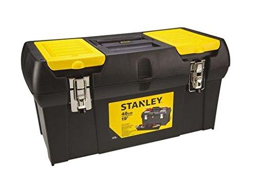 """41qHGhS+QXL - Stanley Werkzeugbox Millenium, 19"""", mit herausnehmbarer Ablage, 2 Organizern, Metallschließen, Kunststffgroff, 1-92-066"""