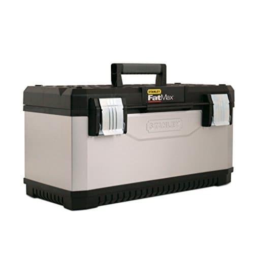 """stanley fatmax werkzeugbox metall kunststoff 23 trage aussparung bi material griff rostfreie schliessen 1 95 616 - Stanley FatMax Werkzeugbox Metall-Kunststoff, 23"""", Trage, Aussparung, Bi-Material Griff, rostfreie Schließen, 1-95-616"""