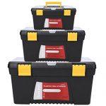 cooshional Werkzeugkasten Werkzeugkiste Werkzeugbox aus Kunststoff *3 pcs 40.5 x 22.6 x 20.9cm