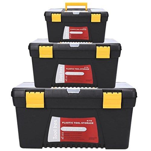 cooshional werkzeugkasten werkzeugkiste werkzeugbox aus kunststoff 3 pcs 40 5 x 22 6 x 20 9cm - cooshional Werkzeugkasten Werkzeugkiste Werkzeugbox aus Kunststoff *3 pcs 40.5 x 22.6 x 20.9cm