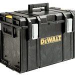 DeWALT Tough Box Werkzeugbox / Werkzeugkiste, sehr geräumige, stabile und tiefe Werkzeugbox, robustes Material, schlichtes Design, praktisch zum Unterbringen von Werkzeug, bis 50kg Traglast, DS400