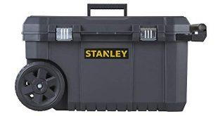 Stanley Essential Mobile Montagebox 50 L Metallverschluesse Teleskopgriff stabile Raeder 310x165 - Stanley Essential Mobile Montagebox (50 L, Metallverschlüsse, Teleskopgriff, stabile Räder für schwere Last und leichten Transport) STST1-80150