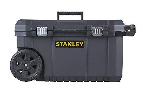 Stanley Essential Mobile Montagebox 50 L Metallverschluesse Teleskopgriff stabile Raeder 500x330 - Stanley Essential Mobile Montagebox (50 L, Metallverschlüsse, Teleskopgriff, stabile Räder für schwere Last und leichten Transport) STST1-80150