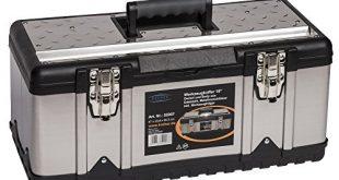 XL Werkzeugkoffer PROFI 18 aus Edelstahl mit robustem Kunststoff Rahmen und 310x165 - XL Werkzeugkoffer PROFI 18 aus Edelstahl mit robustem Kunststoff-Rahmen und herausnehmbaren Werkzeugträger. Mit Metallverschlüssen, abschließbar. Maße: 47 x 23,8 x 20,3 cm